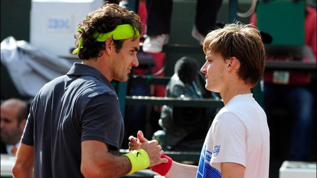 Roger Federer und David Goffin haben viel füreinander übrig.
