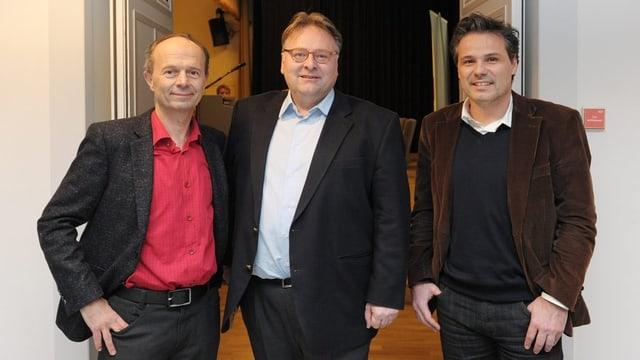 Die drei Anwärter v.l.n.r.: Richard Wolff (AL), Marco Camin (FDP), Daniel Hodel (GLP).