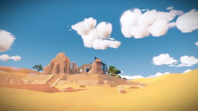 Ruinen in der Wüste.