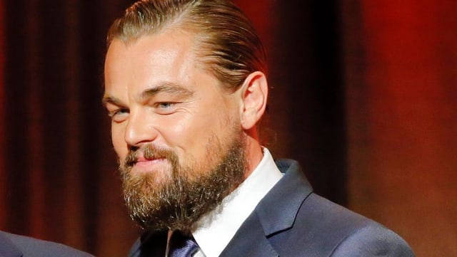 Leonardo DiCaprio mit Vollbart.