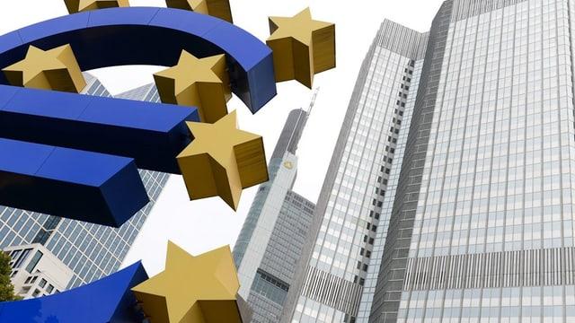 Vista sin il bajetg ed il logo da la Banca centrala europeica.