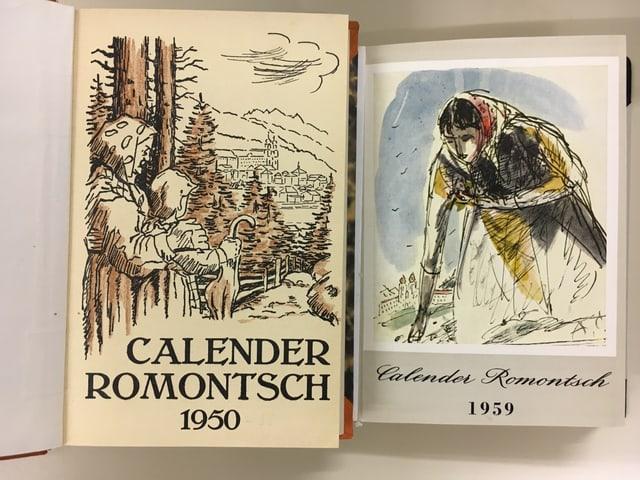 Las cuvertas dal Calender Romontsch sur ils onns.