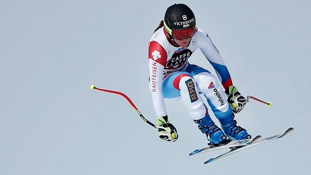 Skifahrerin.
