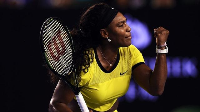 la giugadra da tennis americana Serena Williams