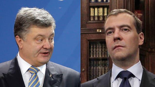 Il president da l'Ucraina, Petro Poroschenko, ed il president da la Russia, Dmitri Medwedew, èn vegnids en ils chavels a la conferenza a Minca.