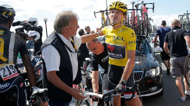 Il ciclist Fabian Cancellara durant il Tour de France 2015.