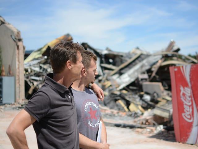 Lorin Schmutz und sein Vater führten auf dem Industrieareal die Böhm Kabel AG. Die Lagerhalle brannte nieder.