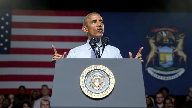 Barack Obama durant il pled.