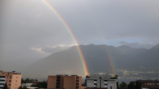 Regenbogen über dem Lago Maggiore am 21. August.