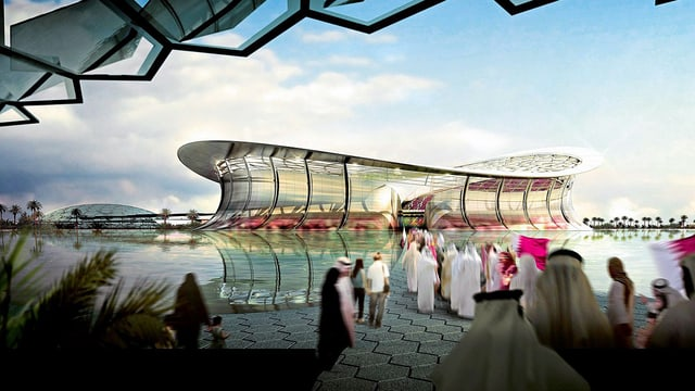 Geplantes Lusail Iconic Stadium in Katar (Modell)