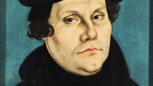 Ein Gemälde von Martin Luther.
