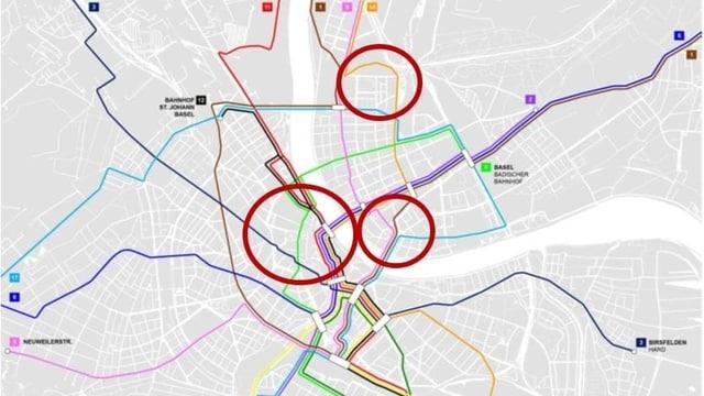 Netzplan mit neuen Linien