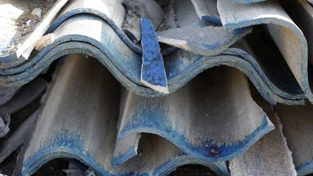 Asbestplatten.