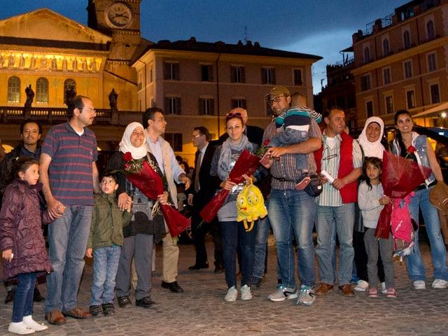 Flüchtlingsfamilien in Rom