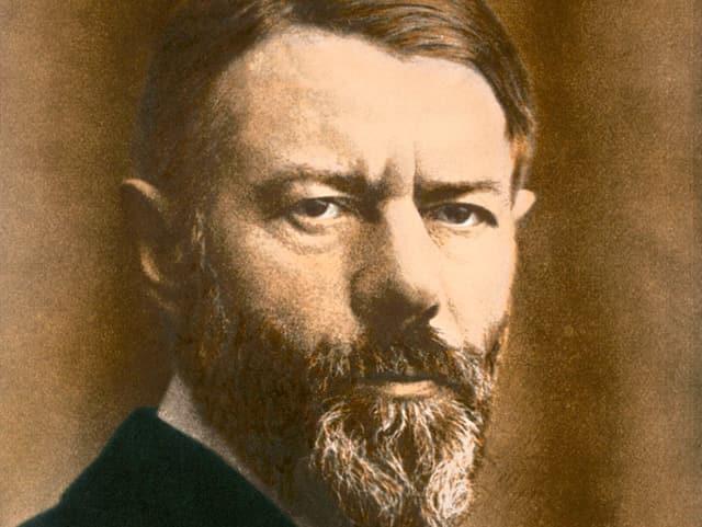 Porträt eines mannes mit Bart