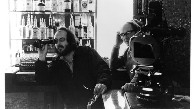 Stanley Kubrick und John Alcott auf dem Set von «The Shining».