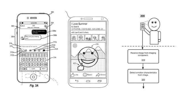 Unser Handy erkennt unsere Gefühle: Zeichnung aus dem Patentantrag von Facebook.