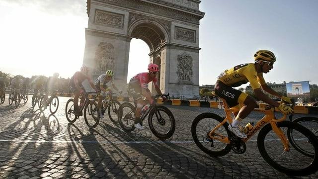Ciclists.