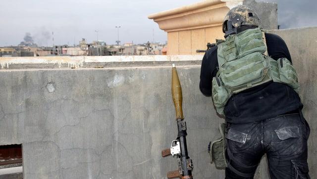 In cumbattant en Siria.