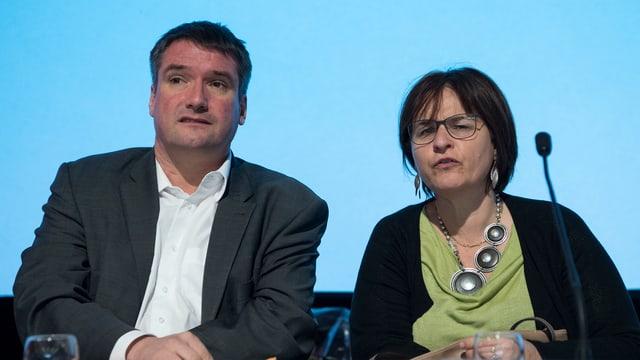 Christian Levrat e Marina Carobbio.