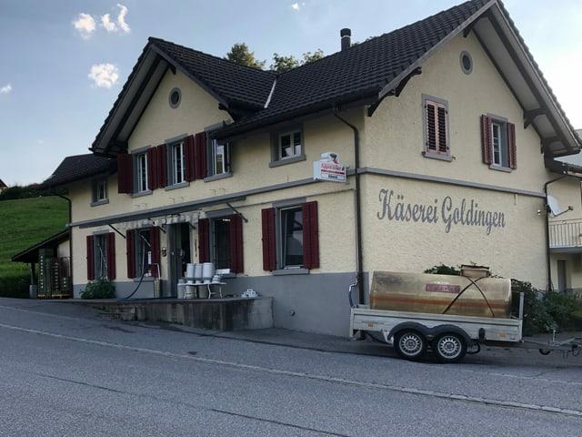 Aussenansicht der Käserei Goldingen.