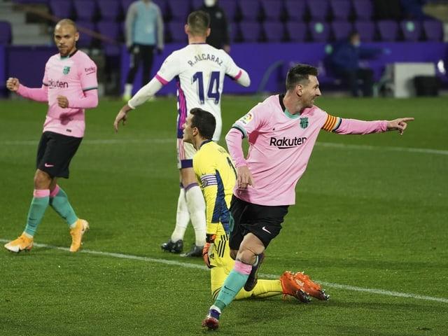 Lionel Messi jubelt