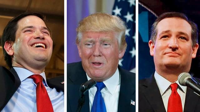 Rubio, Trump und Cruz