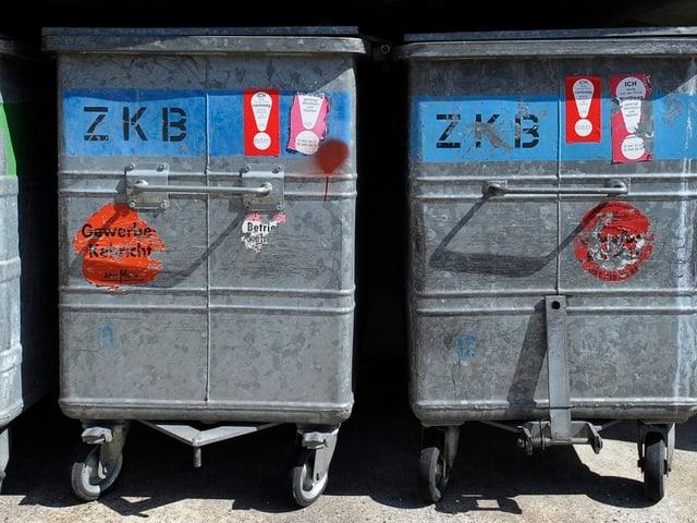 Abfallcontainer der ZKB