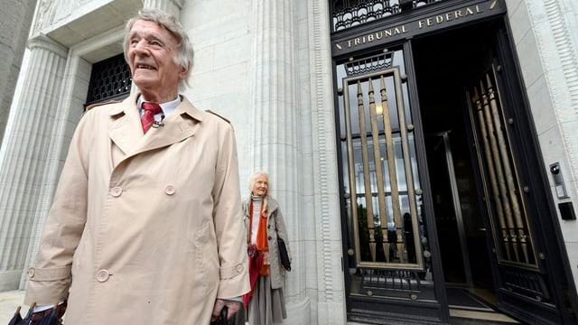 Franz Weber vor dem Bundesgericht in Lausanne am 22. Mai 2013.