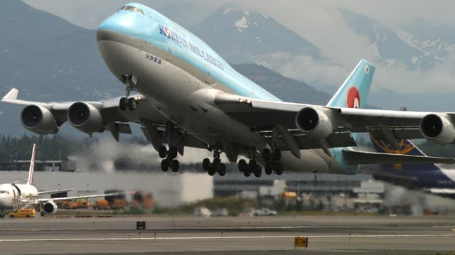 Aviun Boeing da la Korean Air.