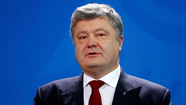 Zu sehen der ukrainische Präsident Poroschenko.