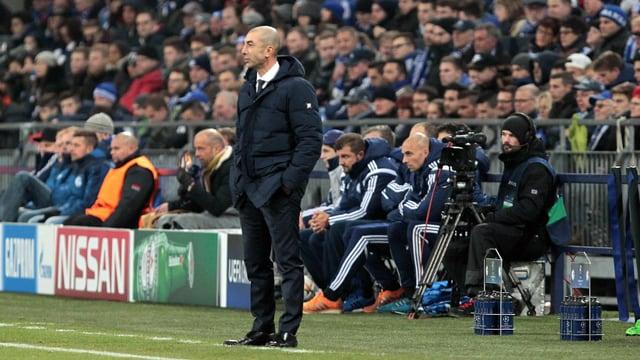 Schalke-Coach Roberto Di Matteo musste an der Seitenlinie leiden.