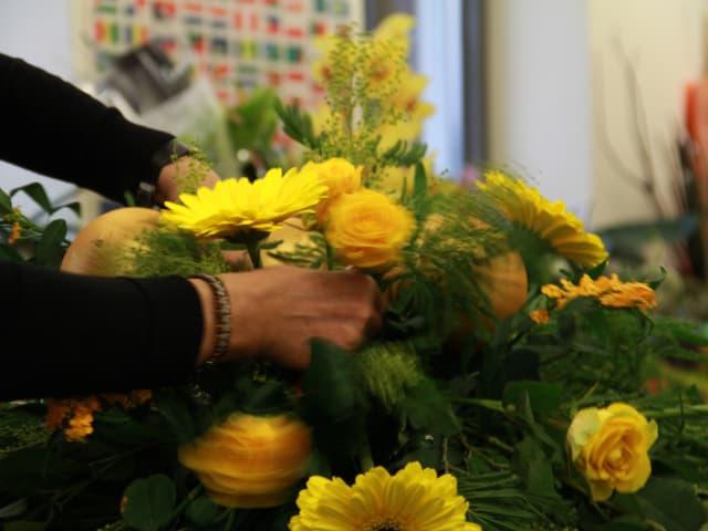 Bei der Wahl der Blumen sind den Floristinnen der Bundesgärtnerei keine Grenzen gesetzt.