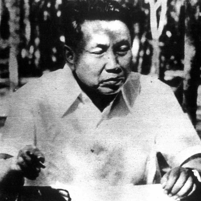 Pol Pot in einer Archivaufnahe,