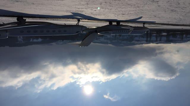 Der Flugplatz Altenrhein wird während des WEF von Business-Jets zugeparkt.