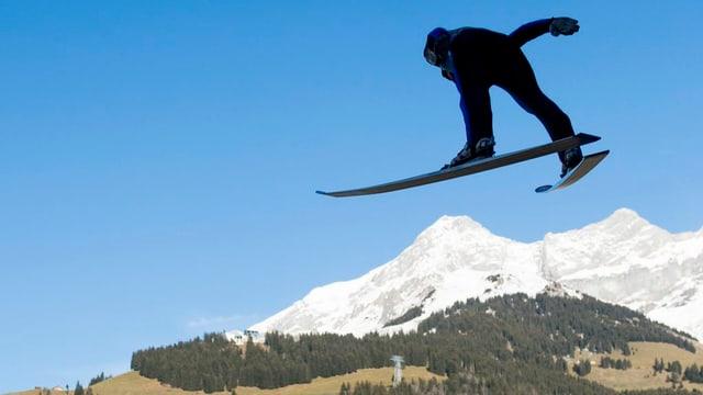 Siglir cun skis cun cuntrada senza naiv.