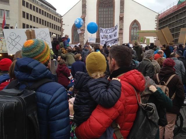 Menschen an der Klimademonstration