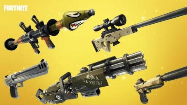 Verschiedene Waffen, darunter auch fantasievolle Ausführungen.