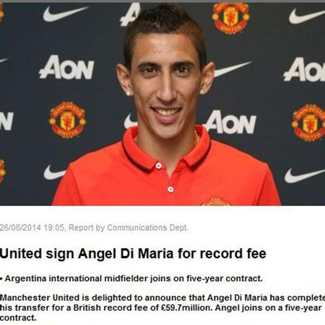 Ankündigung auf der United-Website.