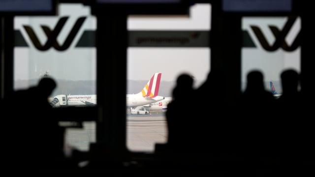 Germanwings-Checkin am Flughafen Düsseldorf