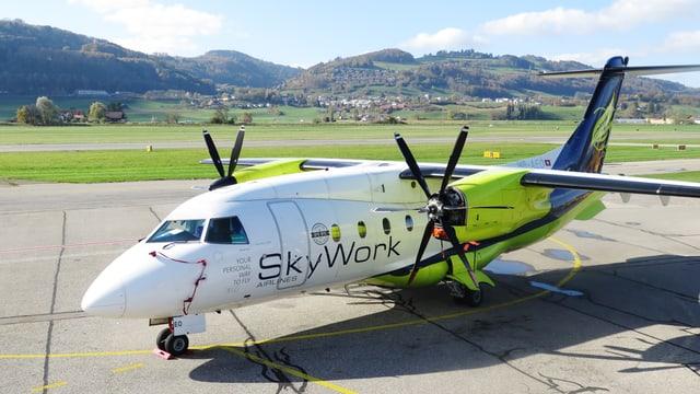 Eine Maschine der Berner Fluggesellschaft.