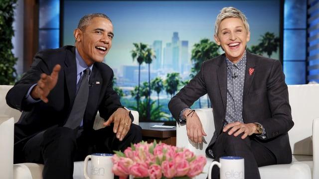 Mit dem ehemaligen US-Präsidenten Barack Obama pflegt die Moderatorin einen freundschaftlichen Kontakt.