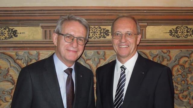 Werner Hagmann und Arno Noger