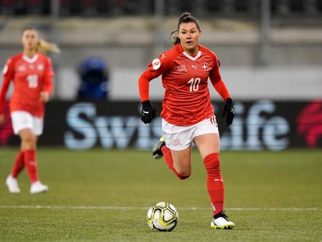 Ramona Bachmann und die Schweizer Frauen-Nationalmannschaft.