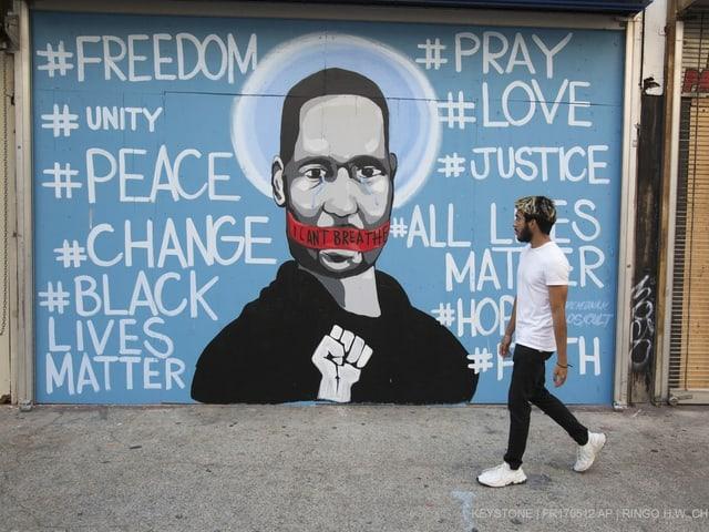 Demonstration in den USA gegen Polizeigewalt und Rassismus