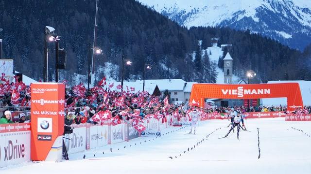arrivada dal Tour de ski en Val Müstair