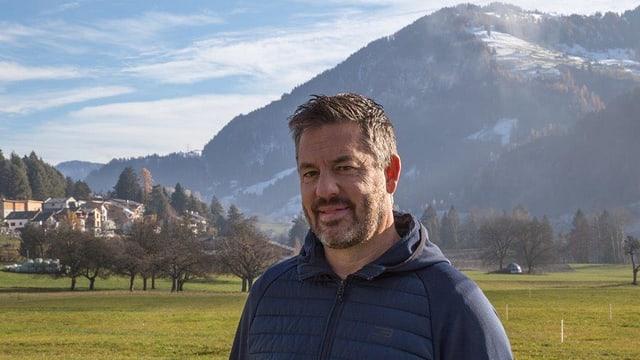 La vischnanca da Sagogn, qua il president communal Hans Peter Casutt, è in dals interessents per la naiv tecnica.