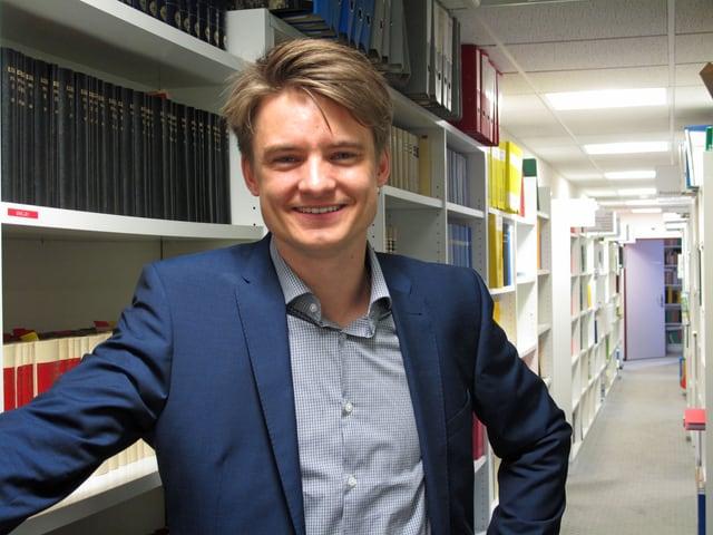 Matthias Kessler in seinem Büro in Schwyz.