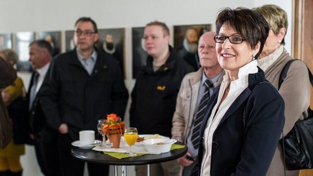 Im März 2013: Inge Schmid verfolgt die Wahlresultate während der Wahlveranstaltung zum neuen Ausserrhoder Regierungsrat.