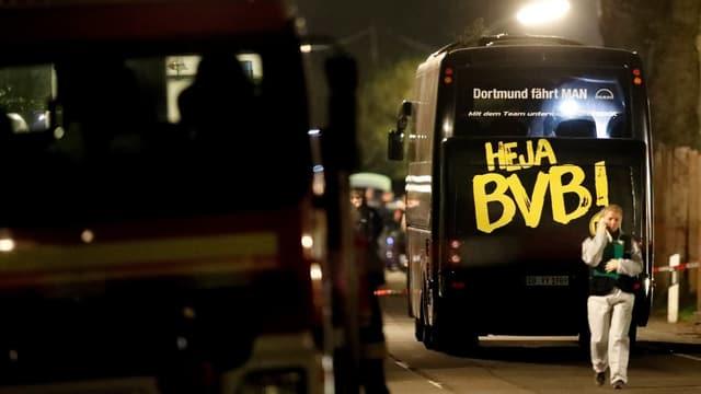 Mannschaftsbus von Borussia Dortmund